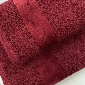 Полотенце маленькое Carrara Fyber Bordo 40x60