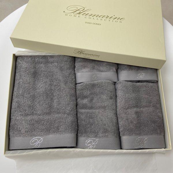 Набор полотенец Blumarine Benessere Grigio 5 штук